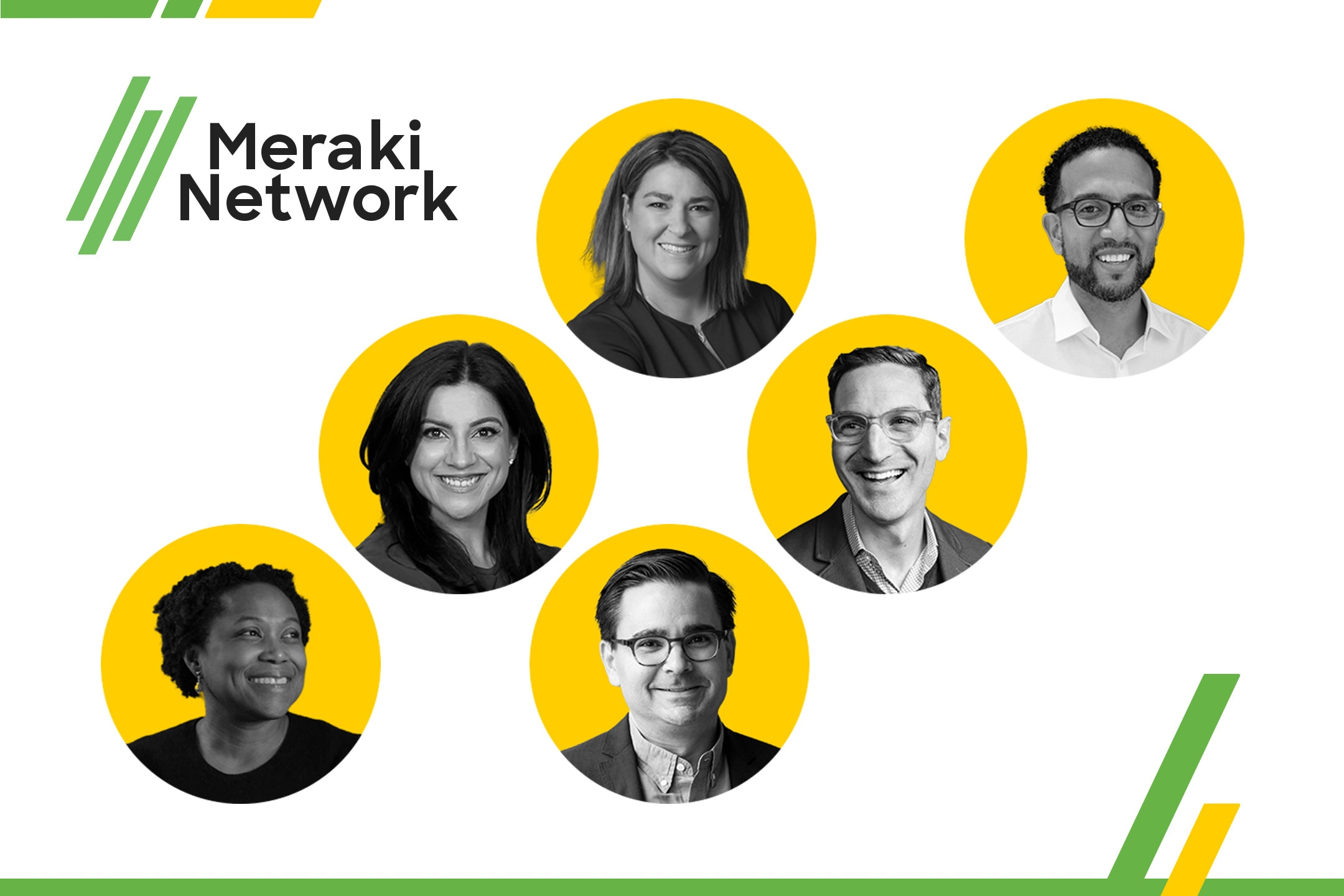 collage of speakers and hosts at Meraki Network